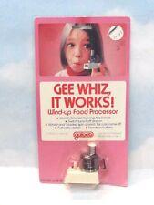 Vintage Galoob 1979 Gee Whiz It Works Windup Food Processor MOC