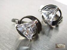 NICE trendy Earrings SILVER 925 Trident Stamp Ukraine USSR 4,53g