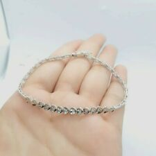 14k WHITE Gold HALF eternity DIAMOND BRACELET
