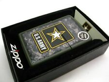 ZIPPO Full Size Green Matte Camouflage U.S. ARMY Windproof Lighter 28631 New!