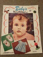 RARE NEW IDEA VINTAGE  Baby knitwear KNITTING book PATTERNS shawls layettes