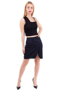 RRP €315 JOHN RICHMOND Pencil Skirt Size 42 / S Unlined Zip Back Made in Italy