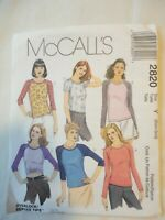 Vintage 2000 Sewing Pattern Top for Stretch Knits Only Size XS-S Uncut