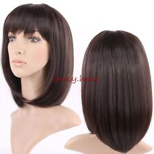 Fashion Short Pixie Full Wig Brown Blonde Heat Resistant Synthetic Wigs Weave US