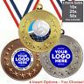 VOLLEYBALL METAL MEDALS 50mm, PACK OF 10, RIBBONS, INSERTS OWN LOGO & TEXT