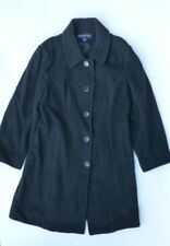 Herman Kay Womens Size XL Charcoal Black Gray Lined Coat Excellent Condition