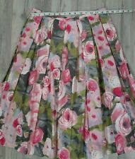 NWT Trina Turk Los Angeles Spring Pink Rose Floral Pleated Skirt Sz 12