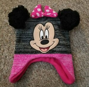 NEW Pink Knit MINNIE MOUSE Winter Hat Fits Toddler Girls 2T – 5T