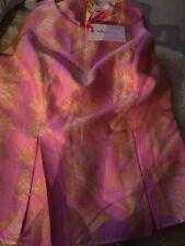 Julie Brown June Pina Colada Rayon Brocade Top size XL 12