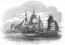 ROGUES. Opium Smuggling, antique print, 1843