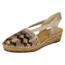 Sandali e scarpe multicolori zeppi marca Rieker per il mare da donna