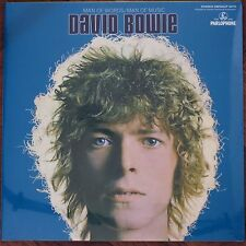 David Bowie Blue Vinyl LP - Man Of Words / Man Of Music Parlophone DBISHLP 2015