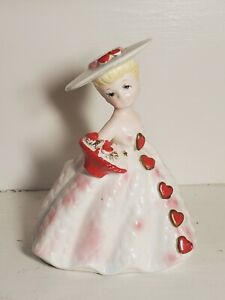 Vintage Valentine Planter Girl 1823