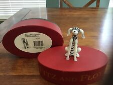 Fitz and Floyd Glass Menagerie Rare Dog w/ original red oval box