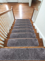 Shaggy Glittter Stair Treads NON-SLIP MACHINE WASHABLE Mat/Rug/Carpet, 22x67cm