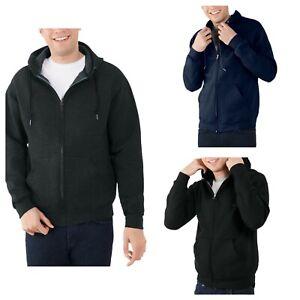 Fruit of the Loom Mens Eversoft Fleece Full Zip Hoodie Jacket S, L, XL, 2XL 3XL