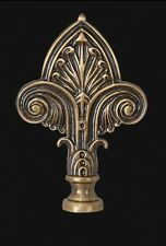"Fleur De Lis LAMP FINIAL ~ Antique Brass { 3 1/4"" Tall } ~ by PLD"