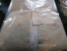 2 Pottery Barn Belgian flax linen reversible natural  standard shams  New