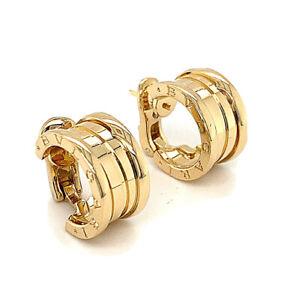 Bulgari B Zero1 Earrings 18k Yellow Gold Wide Model OR851217