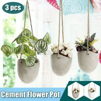 3pcs Hanging Garden Plant Hanger Macrame Planter Basket Flower Pot Holder Decor