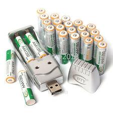 NUEVO 24 piezas 3a 1350mah 1.2V Ni-MH BTY batería recargable & AAA Cargador USB