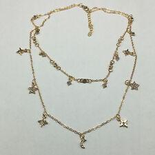 Shiny Two Layers Chain Star Choker Necklace With Rhinestone Women's Jewelry  MXT