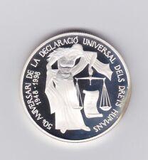 EURO Vorläufer 1998 - Andorra Silbermünze - Menschenrechte