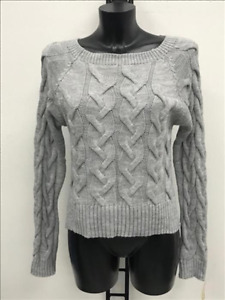 Damen Pullover  Zopfmuster grau Einheitsgröße 36/38/40