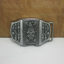 Men's Belt Buckle 3D Removable Lighter Pirate Skull Head