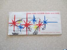 Original 1968 Ford cars exterior colour chart brochure - USA