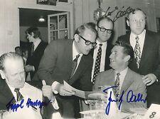 Sepp Herberger+ & Fritz Walter+ & Uwe Seeler - orig.signiertes schönes Großfoto