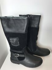 Timberland Ladies Girls Black Leather Suede Boots NEW UK 5. 5 Eur 38