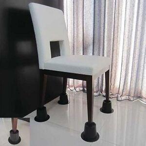 Cone Chair Risers Feet Leg Lift Furniture Extra Raisers Stand Disability Aid 4no