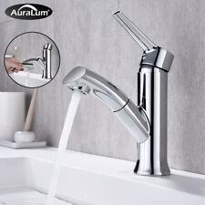 5-tlg Badarmatur Waschtisch Wasserfall Wasserhahn Waschbecken mit Brause Bad Set
