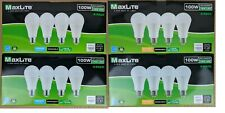 8 Pack Maxlite LED Light Bulbs 15W A19 100W Replacement Daylight or Softwhite