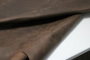 BROWN DISTRESSED FLOATER LEATHER HIDE Thickness : 1.6-1.8 mm/ 4-4.5 oz - 9 SqFt