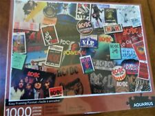 AC/DC Jigsaw Puzzle *1,000 pieces* With a bonus AC/DC guitar pick ~New & Sealed~