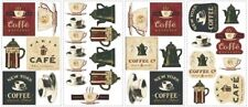 COFFEE HOUSE wall stickers 31 decals pots cups signs kitchen room decor