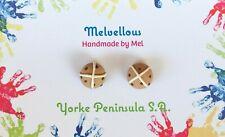 Easter hot cross bun studs Melvellous earrings