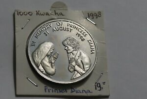 ZAMBIA 1000 KWACHA 1998 DIANA & MOTHER THERESA B38 WR29
