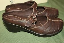 CANYON RIVER BLUES BROWN MARY JANE CLOGS WOMEN'S SZ 8 1/2M
