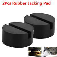 2xFull Size Universal Slotte Frame Rail Floor Jack Guard Adapter Lift Rubber Pad