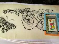 Sun-Glo Butterfly & Blossoms Picture Tri-Chem #1865-Ready To Paint/Embroider-7.5