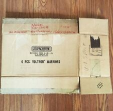 1984 6 Piece Voltron Warriors Matchbox Original Manufacturing Shipping Box