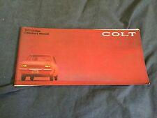 1970 1971 Dodge Colt Mitsubishi Galant Original Factory Owners Manual