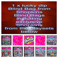 Shopkins 1 x Luck Dip Blind Bag containing an exclusive Shopkins from playsets