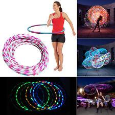 24 Flash Lights 90CM Colorful light flash LED hula hoop fitness increased