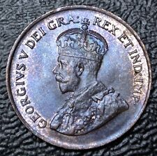OLD CANADIAN COIN 1920 - ONE CENT - George V - Beatuiful Lustre & Details