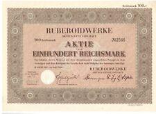 Ruberoidwerke AG 1936 Hamburg