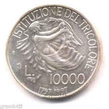 TRICOLORE BICENTENARIO ISTITUZIONE 10.000 LIRE 1997 MONETA ARGENTO FDC